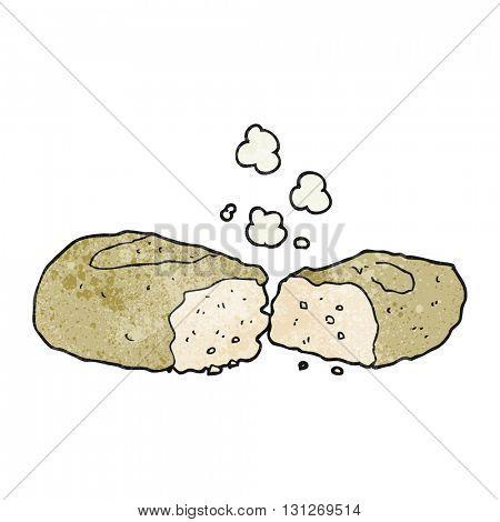 freehand textured cartoon bread