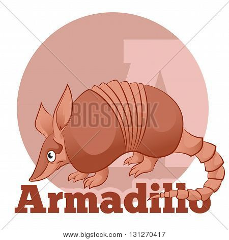 Vector image of the  ABC Cartoon Armadillo2