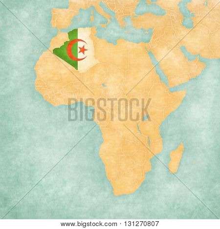 Map Of Africa - Algeria