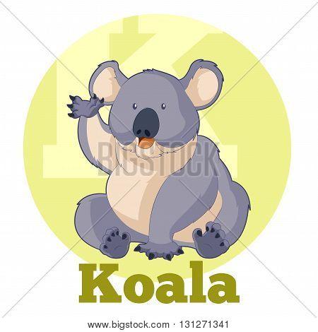 Vector image of the ABC Cartoon Koala
