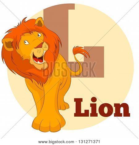 Vector image of the ABC Cartoon Lion3