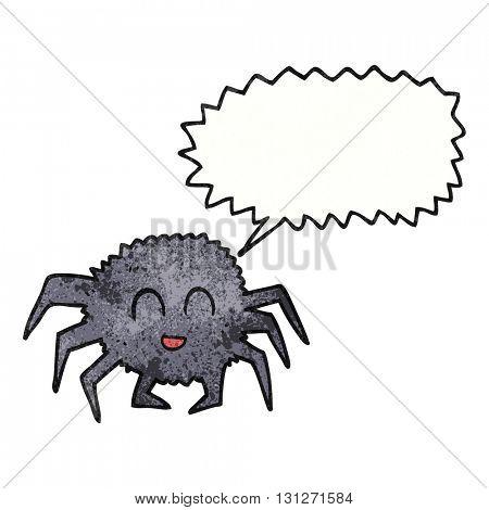 freehand textured cartoon spider
