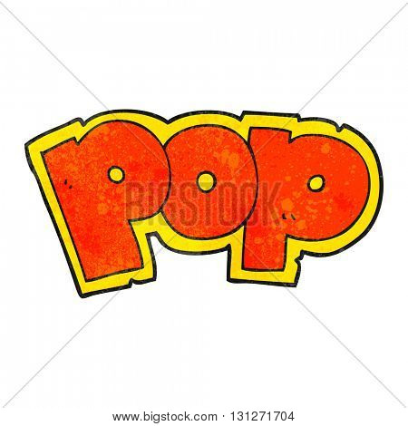 freehand textured cartoon POP symbol