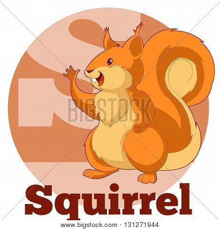 Vector image of the ABC Cartoon Spuirrel2