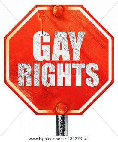 gay rights, 3D rendering, a red stop sign