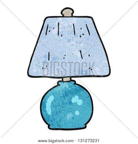 freehand textured cartoon lamp