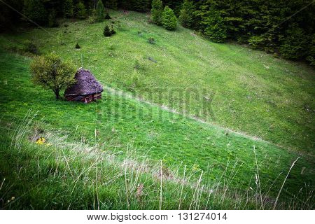 Landscape of Apuseni Mountains in Romania