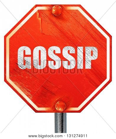 gossip, 3D rendering, a red stop sign