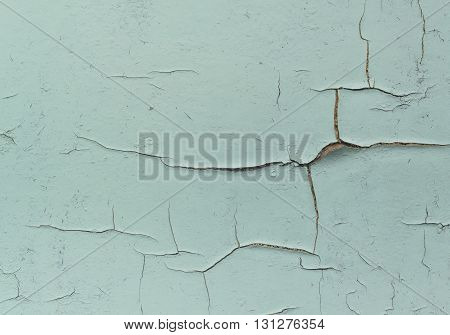 Texture of old wall with cracked paint