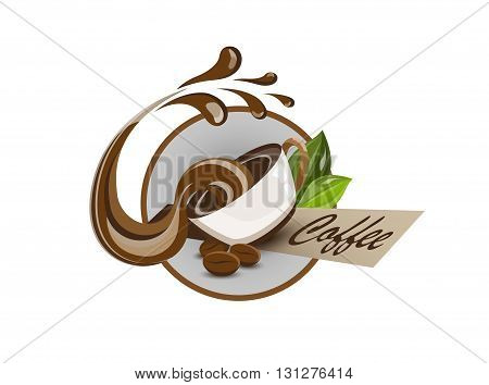 coffee cup isolated on a white background.  vector illustration.