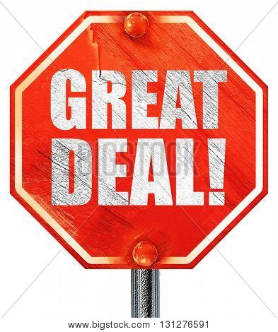 great deal, 3D rendering, a red stop sign