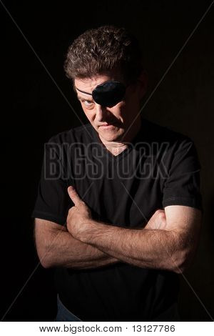Man Wearing An Eyepatch