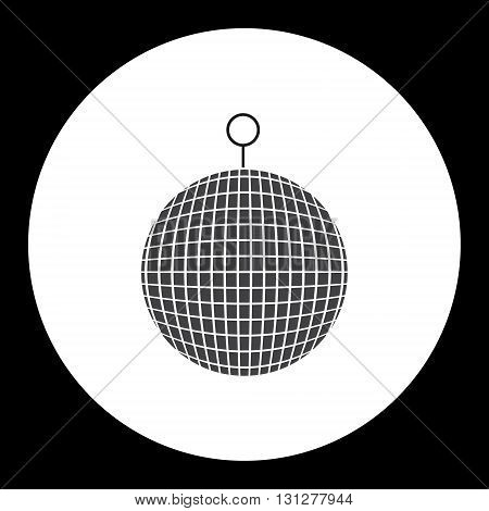 Music Disco Ball Black Simple Isolated Icon Eps10