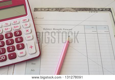 notebook for yearly expenses and planning finance for personal control