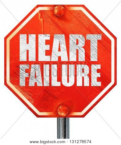 heart failure, 3D rendering, a red stop sign