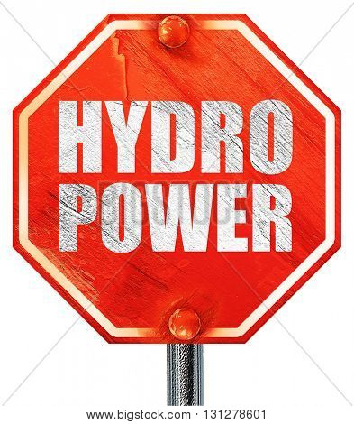 hydro power, 3D rendering, a red stop sign