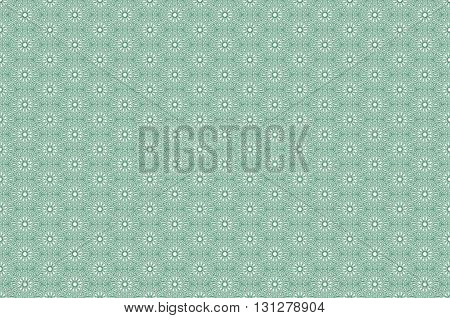 Traditional Geometric Pattern Green Arabic Seamless Pattern