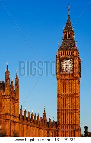 Big Ben In Morning Sunshine