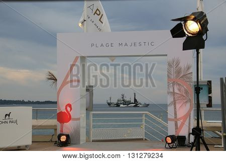 Majestic Beach attends the Closing Ceremony of the 69th annual Cannes Film Festival at the Palais des Festivals on May 22, 2016 in Cannes, France.