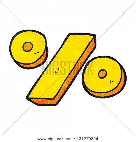 freehand textured cartoon percentage symbol