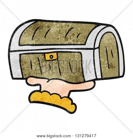 freehand textured cartoon treasure chest
