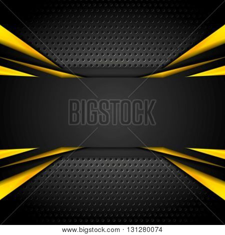 Dark tech corporate abstract background. Vector illustration