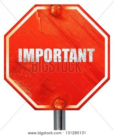 important sign background, 3D rendering, a red stop sign