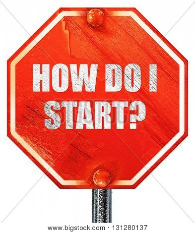 how do i start, 3D rendering, a red stop sign