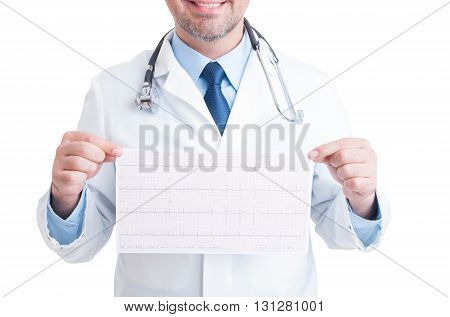 Anonymous Doctor Or Medic Holding Ekg