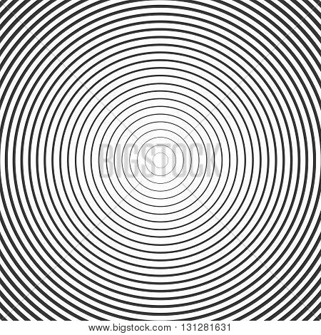 Circle Ring Hypnotic Background. Vector illustration pattern