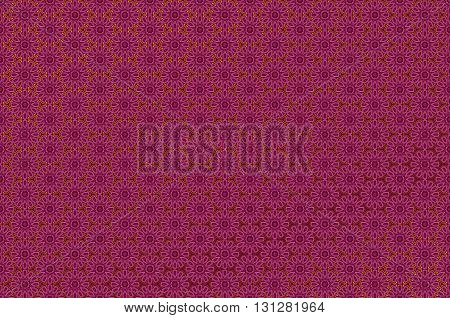 Seamless damask pattern with gold and red color. Luxury style ornament. Background with oriental motifs. Vector illustration art