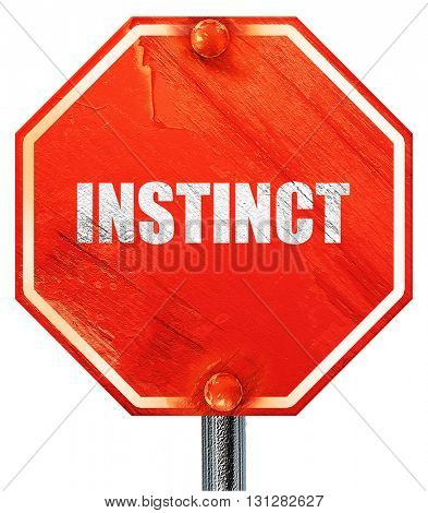 instinct, 3D rendering, a red stop sign