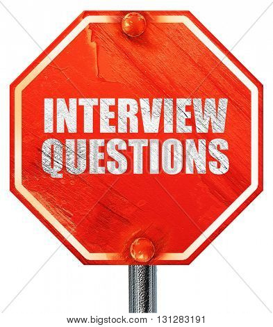 interview questions, 3D rendering, a red stop sign