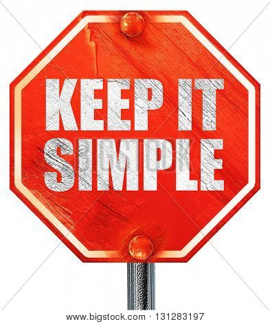 keep it simple, 3D rendering, a red stop sign