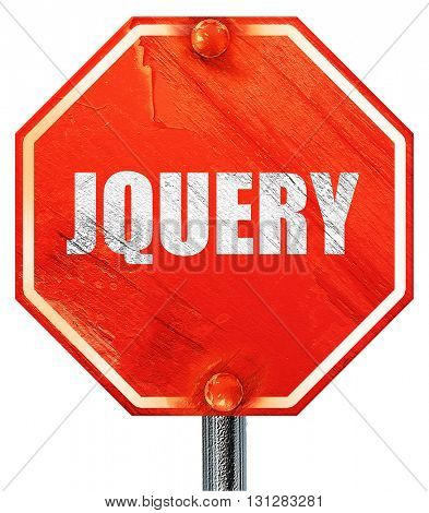 jQuery, 3D rendering, a red stop sign