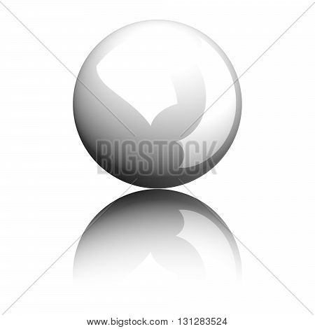Billiard Cue Ball Or White Ball 3D Rendering