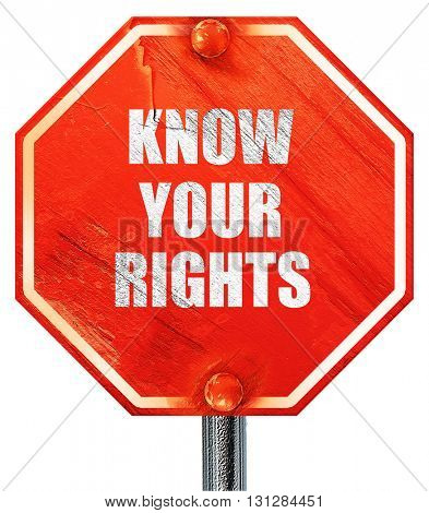 know your right, 3D rendering, a red stop sign