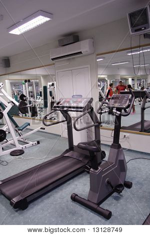 The champion in a fitness center.
