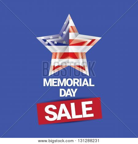 vector memorial day sale banner. memorial day sale label.