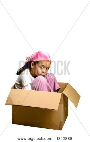 Girl In A Tight Box