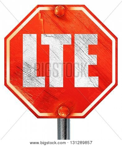lte, 3D rendering, a red stop sign