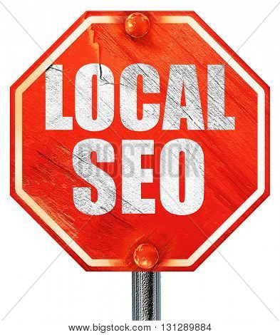 local seo, 3D rendering, a red stop sign