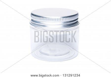One Single Transparent Plastic Jar