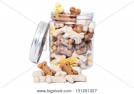 Dry Food For Dogs In Transparent Jar