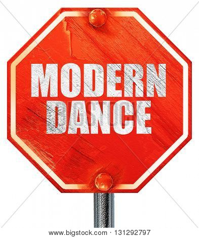 modern dance, 3D rendering, a red stop sign