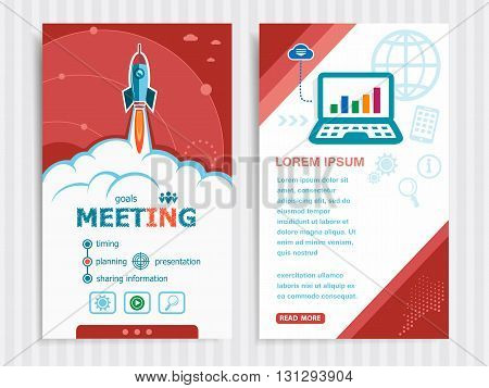 Project Business Meeting Concepts And Set Of Banners.