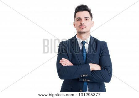 Confident Successful And Proud Businessman With Arms Crossed