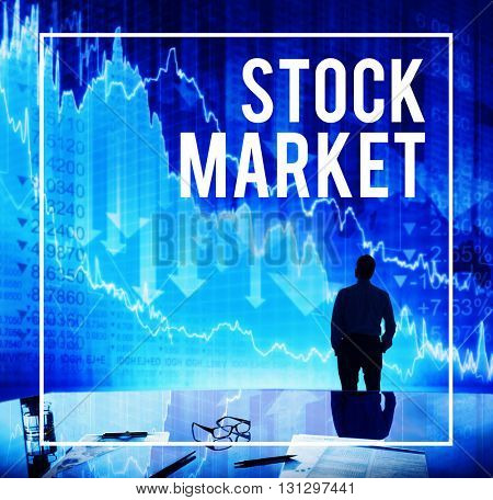 Stock Stock Market Trading Increase Investment Concept