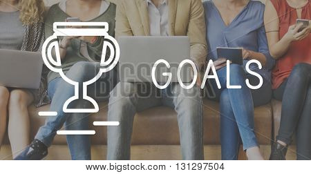 Goals Target Success Strategy Achievement Concept