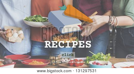 Recipes Food Menu Cafe Restaurant Concept